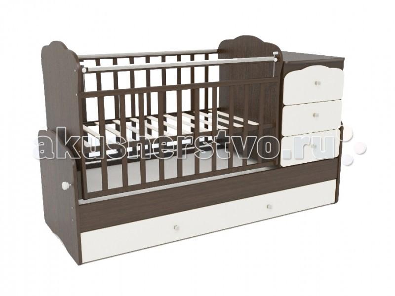 Кроватка-трансформер СКВ Компани СКВ-9 93003 маятник поперечный