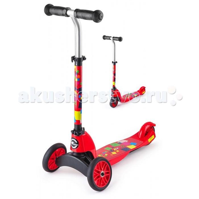 """Трехколесный самокат Small Rider трансформер 2 в 1 Maestroтрансформер 2 в 1 MaestroSmall Rider Maestro - это уникальный трансформер, который из трехколесного самоката превращается в двухколесный. Для этого достаточно сменить переднюю вилку с двумя колесами на одноколесную.  Пусть Ваш ребенок будет настоящим """"маэстро"""" катания, который быстро освоится и с трехколесным, и с двухколесным самокатом.   Благодаря ему Вы не будете затягивать с приобретением двухколесного  самоката, а сразу переключитесь в него когда это будет нужно и сэкономите, купив модель 2 в 1.  Самокат, по сути, растет вместе с Вашим ребенком.  Самокат предназначен для широкого возрастного диапазона - от 2 до 6 лет.  Сначала он используется в трехколесном, более устойчивом варианте, а затем, по мере роста навыков, Вы трансформируете его в двухколесный самокат.  Интересный поворотный механизм  В отличие от многих других трехколесных самокатов, которые поворачивают с помощью наклонов, Small Rider Maestro один из не многих, где поворот происходит за счет руля как у обычного двухколесного самоката.  Колеса сделаны из ПВХ, и имеют диаметр 120 мм - оптимальный размер для первого самоката. С помощью заднего ножного тормоза ребенок сможет контролировать скорость.  Регулируемая по высоте ручка  Small Rider Maestro предназначен для широкого возрастного диапазона, и поэтому, конечно же, он имеет выдвижную ручку и несколько положений настройки высоты руля.  Кстати, сама форма руля тоже интересная, выгнутая вперед, что очень удобно.  Правила предосторожности:  Внимание! На самокатах детям рекомендуется кататься в шлеме и защите. Собирать самокат должен взрослый. Проверяйте перед каждой поездкой, чтобы самокат было надежно собран и зафиксирован. Не катайтесь в темное время суток или вблизи опасных мест.<br>"""
