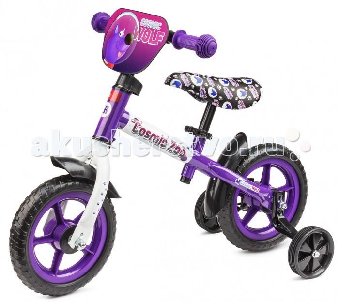 Беговел Small Rider Cosmic Zoo BallanceCosmic Zoo BallanceБеговел Small Rider Cosmic Zoo Ballance для самых маленьких.  Особенности: Беговел - Каталка 2 в 1. Подходит для малышей от 1-4 лет; Имеет доп.колесики, с которыми используется сначала как каталка (для самого раннего возраста), потом колесики снимаются и получается полноценный беговел; Мало весит - всего 2.5 кг. Брать его с собой на прогулку - одно удовольствие; Малый радиус колес - 10. Малыш точно достанет ножками до пола. Колеса сделаны из ПВХ - это мягкий полимер, такие колеса не прокалываются, не шумят и подходят для катания по любым поверхностям, в том числе и паркету, плитке, линолеуму и т.п.; Сиденье регулируется по высоте самым удобным способом (без ключа) - с помощью зажима квик релиз; Имеются брызговички для защиты от луж и грязи; Красивый и яркий дизайн с персонажами Космического зоопарка - динозавриком, тигренком и медвежонком. Эффектный дизайн сиденья и красивая табличка спереди.   Мин.высота от пола до сиденья: 35 см Макс.высота от пола до сиденья: 41 см<br>