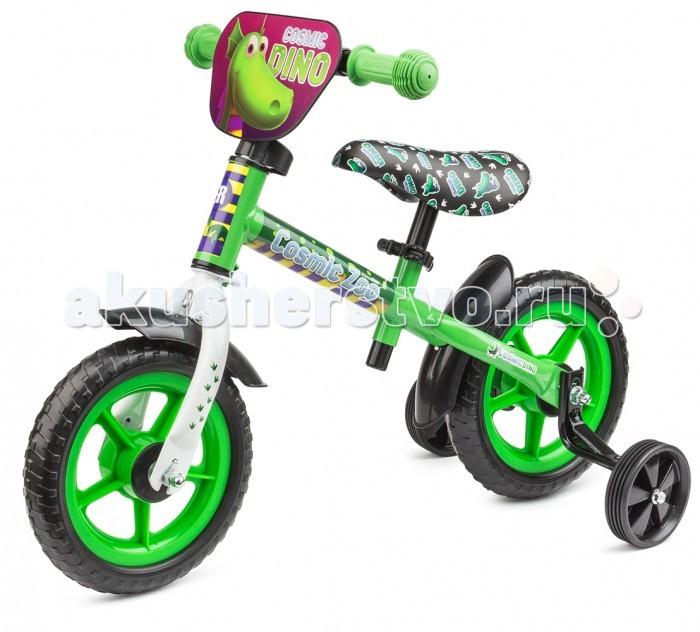 Беговел Small Rider Cosmic Zoo BallanceCosmic Zoo BallanceБеговел Small Rider Cosmic Zoo Ballance для самых маленьких.  Особенности: Беговел - Каталка 2 в 1. Подходит для малышей от 1-4 лет; Имеет доп.колесики, с которыми используется сначала как каталка (для самого раннего возраста), потом колесики снимаются и получается полноценный беговел; Мало весит - всего 2.5 кг. Брать его с собой на прогулку - одно удовольствие; Малый радиус колес - 10. Малыш точно достанет ножками до пола. Колеса сделаны из ПВХ - это мягкий полимер, такие колеса не прокалываются, не шумят и подходят для катания по любым поверхностям, в том числе и паркету, плитке, линолеуму и т.п.; Сиденье регулируется по высоте самым удобным способом (без ключа) - с помощью зажима квик релиз; Имеются брызговички для защиты от луж и грязи; Красивый и яркий дизайн с персонажами Космического зоопарка - динозавриком, тигренком и медвежонком. Эффектный дизайн сиденья и красивая табличка спереди. Игрушка-брелок на руле.  Мин.высота от пола до сиденья: 35 см Макс.высота от пола до сиденья: 41 см<br>
