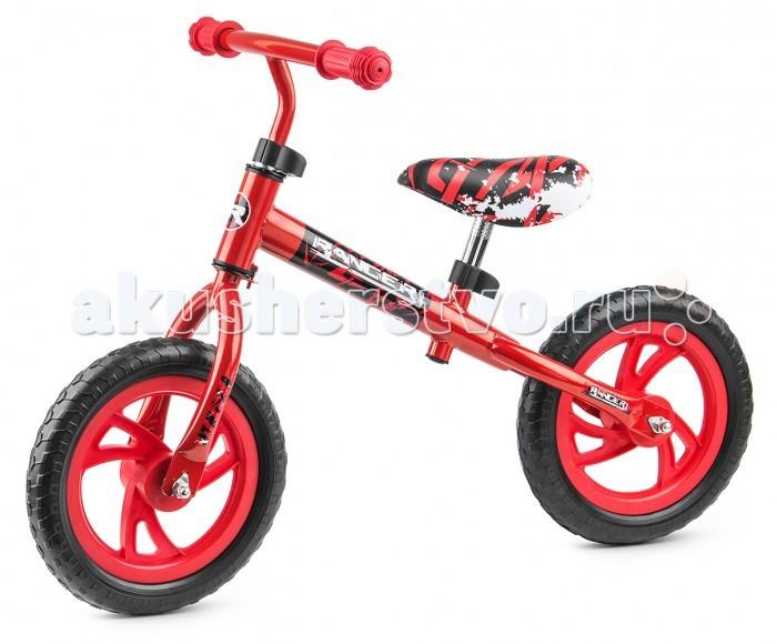 """Беговел Small Rider RangerRangerБеговел Small Rider Ranger создан с учетом современных тенденций и технологий.  В беговеле применены свежие и смелые дизайнерские решения, в частности, сиденье как будто немного потерто, а стилистика написания букв напоминает лейблы известных классических джинсовых брендов.  Беговел Small Rider Ranger имеет колеса 12-го радиуса - самого распространенного среди беговелов для детей - а также эргономичное, продуманное строение рамы, которое позволит кататься уверенно, быстро и безопасно.  Дизайн дисков в стиле вихрь с тремя лопастями во время движения будет смотреться спортивно и интересно, делая акцент на легкости хода.  Все элементы беговела отлично спроектированы и продуманы. Центр тяжести откалиброван и расположен под сиденьем, согласуясь с выверенной геометрией и позволяя грамотно распределять вес ребенка при езде при экономии усилий.  Благодаря регулируемому сиденью и рулю, Вы сможете настроить необходимую их высоту согласно роста и предпочтений ребенка.  Особенности: Материал колес: ПВХ (EVA) Диски: пластиковые, цветные в стиле """"вихрь"""" Рукоятки: резиновые, эргономичные Тип сиденья: мягкое, под кожу, крашенное Минимальная высота от пола до сиденья: 40 см Максимальная высота от пола до сиденья: 45 см Размеры: 83х41х53 см<br>"""