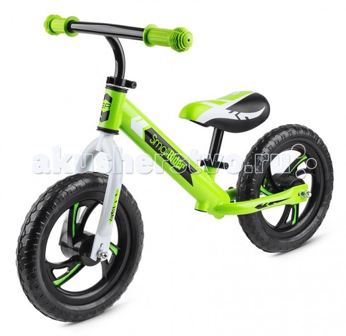 """Беговел Small Rider Roadster EVARoadster EVAДетский беговел Small Rider Roadster EVA - новая модель беговела, созданная с учетом современных тенденций и технологий для детей от 3 до 5 лет.  Велобалансир (или беговел) сконструирован специально без педалей, чтобы малыш мог кататься с самого раннего возраста, отталкиваясь ногами и, подняв их, проехать дистанцию держа тело ровно по центру.  Беговел создан для того, чтобы малыши с самого малого возраста развивали свои ножки, координацию движений и учился держать равновесие. То есть можно сказать, что это подготовительный аппарат перед пересаживанием на велосипед.  Кроме того, беговел в фантазии малыша - это первый собственный """"мини-мотоцикл"""" или личный транспорт, который становится """"своим"""" для малыша, и он берет его посвюду на прогулку.   Красивый внешний вид.  Эффектный спортивный вид беговела Small Rider Roadster придется по душе маленьким гонщикам, которые хотят получить достойное транспортное средство, обладающее всеми необходимыми функциями.  Пластиковые диски в стиле """"вихрь"""".  Диски у беговела сделаны в эффектном дизайне """"вихрь"""", подчеркивающим маневренность и скоростные характеристики, а на самих лопастях наклеены яркие полоски для красивого восприятия беговелика во время движения.  Функциональность.  Смолл Райдер Роадстер (Эва) имеет сразу два удобных регулировочных зажима. Теперь Вы сможете отрегулировать руль и сиденье без специального инструмента.  Классические колеса 12' радиуса.  12' радиус колес является самым популярным и превалирует среди беговелов. Вместе с сиденье, которое можно опустить в минимальное положение, беговел отлично подходит для детей с самого малого возраста. Пробовать кататься на беговеле можно, в принципе, уже от 2 лет. Только ребенок должен делать это обязательно в шлеме, при нахождении взрослого рядом.  Колеса 12' дюймов сделаны из специального современного материала, который очень распространен в использовании - вспененного ПВХ. Этот материал при сильном нажатии продавливается пальцем,"""