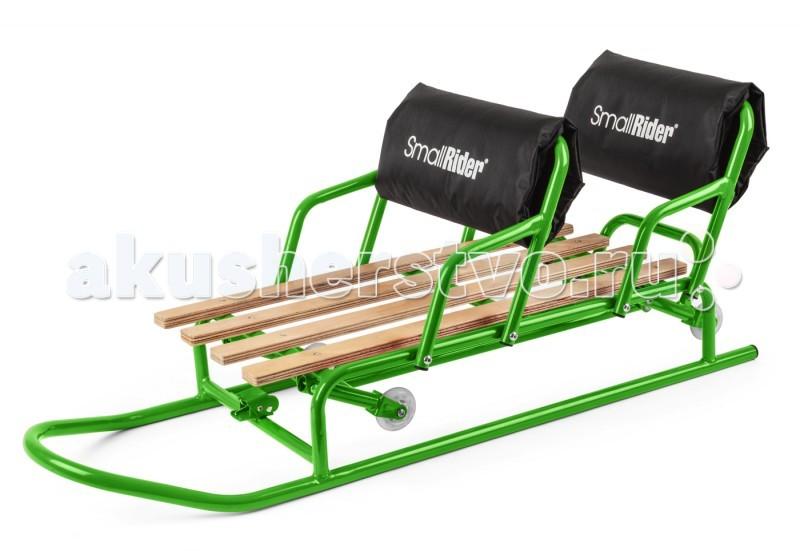 Зимние товары , Санки Small Rider Snow Twins для двойни с колесиками арт: 69623 -  Санки