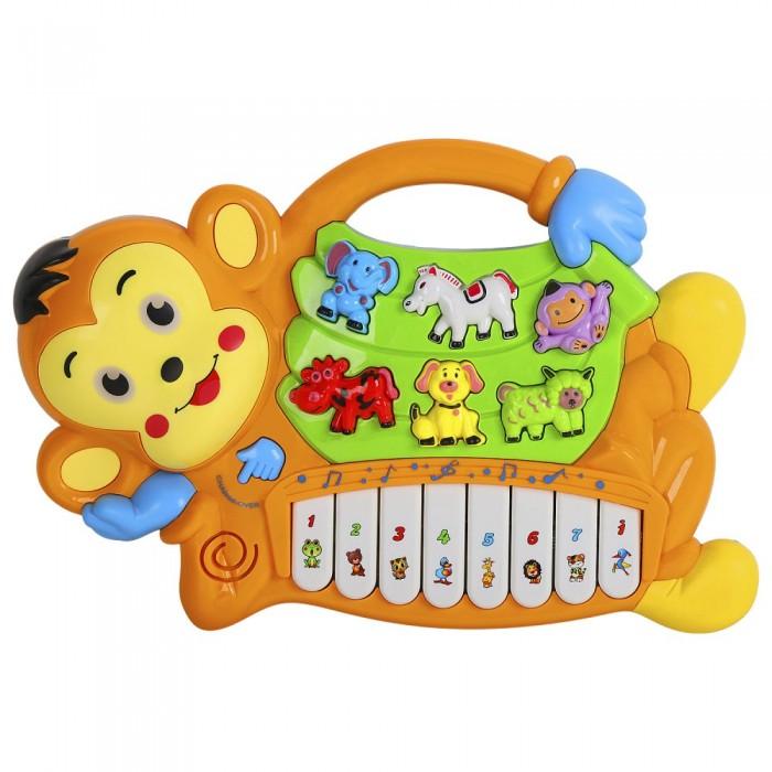 Музыкальные инструменты, Музыкальный инструмент Smart Baby Пианино обучающее Обезьяна 42 звука  - купить со скидкой