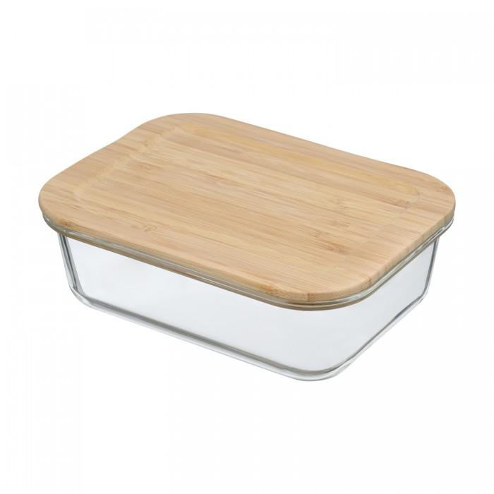 Купить Контейнеры для еды, Smart Solutions Контейнер для еды стеклянный с крышкой из бамбука 1050 мл