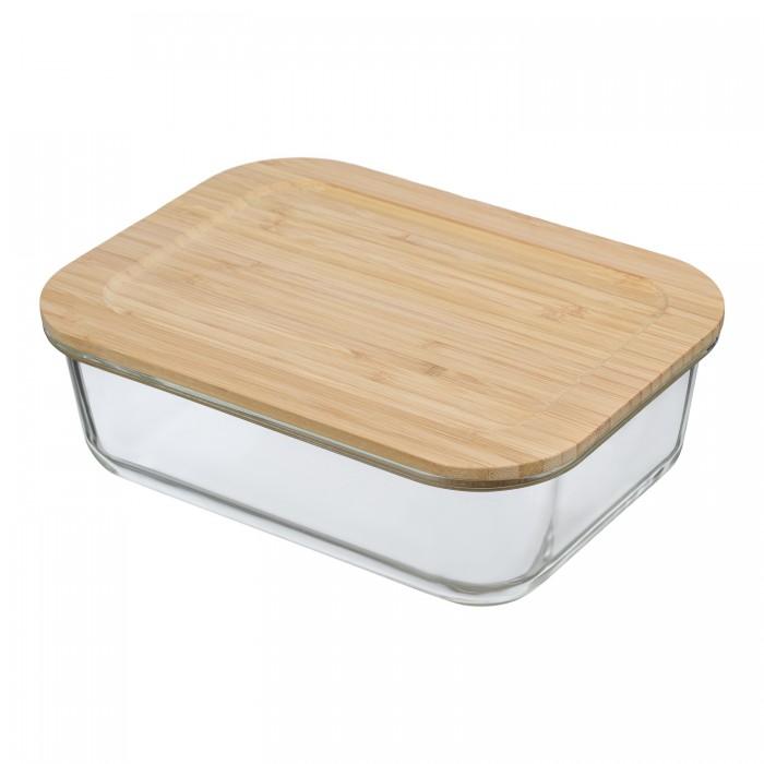 Купить Контейнеры для еды, Smart Solutions Контейнер для еды стеклянный с крышкой из бамбука 1520 мл