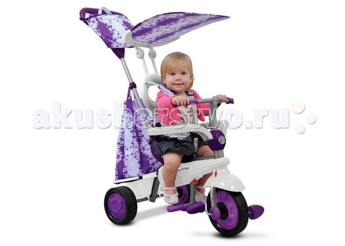 Велосипед трехколесный Smart Trike SpiritSpiritВелосипед трехколесный Smart Trike Spirit - велосипед, который растет вместе с ребёнком, помогая ему гармонично развиваться, расширять свой кругозор – и всё это с максимальным комфортом и безопасностью.                    Особенности: стильный велосипед для малыша;  долгое использование – растёт вместе с ребёнком;  предназначен для детей от 10 месяцев до 3 лет;  прочная металлическая конструкция;  простая и быстрая сборка;  технология Touch Steering™ – сенсорное управление: удобное маневрирование лёгким касанием;  пластиковые прорезиненные колёса, большое переднее колесо – поворотное на 360°;  удобная телескопическая ручка для родителей;  сиденье с высокой спинкой и 3-точечными ремнями безопасности обеспечивает комфортную и безопасную посадку в велосипеде; барьер безопасности, на который можно положить руки, позволит ребёнку чувствовать себя уверенно;  навес от солнца для комфортных прогулок в летний сезон; педали с нескользящим покрытием;  складная подножка;  в комплект входят большой мешок для игрушек и стильная сумочка-органайзер для мелочей на родительской ручке. Вес с упаковкой (брутто): 6.88 кг<br>