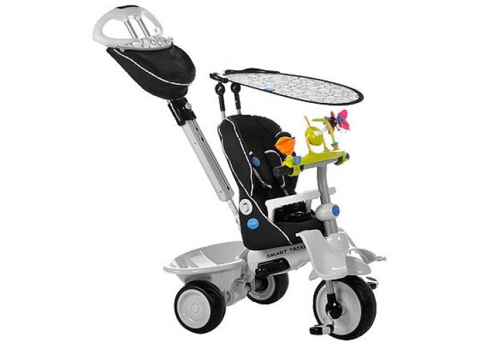 Велосипед трехколесный Smart Trike Recliner 4 в 1 (3-точечные ремни)Recliner 4 в 1 (3-точечные ремни)Велосипед Recliner Smart Trike выполнен из прочного пластика и металла. Сиденье велосипеда оборудовано ремнем безопасности, также велосипед имеет небольшой багажник для игрушек. Это единственный на сегодняшний день велосипед, рассчитанный на самых маленьких детей в возрасте от шести месяцев. Учитывая физические особенности малыша, у велосипеда есть дополнительная подставка для ножек шестимесячных детей. Мягкое удобное сиденье, оборудованное 3-точечными ремнями безопасности и защитным поручнем, сделает прогулку не только комфортной, но и максимально безопасной. Сиденье имеет возможность регулировки удаленности от руля в двух положениях, а благодаря высокой спинке, которую можно опускать при нажатии на кнопку, и дополнительной боковой поддержке для головы, малыш сможет ехать полулежа и даже вздремнуть во время прогулки. Съемный солнцезащитный тент с возможностью регулировки обеспечивает ребенку защиту от ультрафиолетового излучения солнца на 30%. Особенности велосипеда Recliner Smart Trike 4 в 1: Управляющая ручка с внутренней тягой  Дополнительная подставка для ножек 6-месячного малыша  Высокая спинка сиденья с мягкой накидкой на всех стадиях трансформации  3-точечный ремень  Страховочный обод  Корзина  Съемный солнцезащитный тент Ножная тормозная система  Свободный ход педалей  Отклоняющаяся спинка сиденья  Регулировка сиденья вперед-назад без инструментов  Резиновые колеса  Сумка  Характеристики: Максимальная нагрузка: 15 кг  Материал: металл, пластик, резина, текстиль.  Размер упаковки: 59 х 36 х 28 см<br>