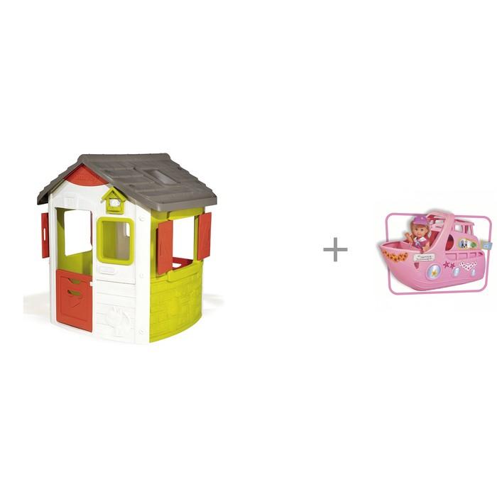 Купить Игровые домики, Smoby Игровой домик Jura Neo и Игровой набор Кукла Еви на круизном корабле 12 см Simba