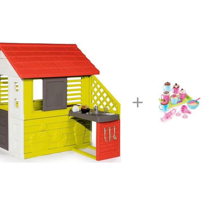 Smoby Игровой домик с кухней 81071 с набором для приготовления кексов Chef 312101