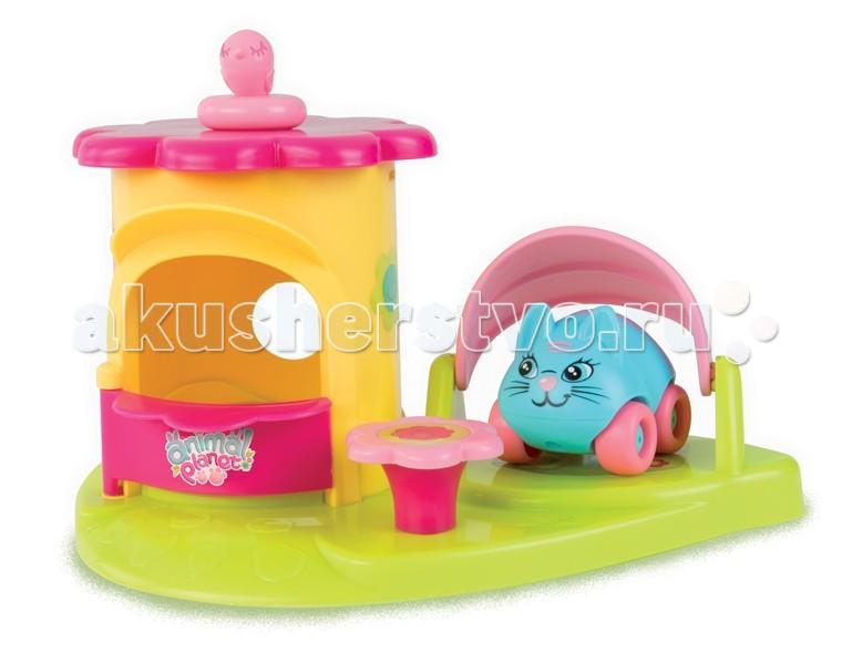 Машины Smoby Mашинка + домик Animal Planet пластиковая мебель smoby столик для пикника cars