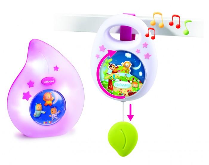Мобили Smoby Набор для сна Cotoons Музыкальная подвеска + ночничок smoby smoby телефон со светом звуком