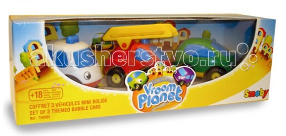 Машины Smoby Набор из 3-х машинок Vroom Planet  недорого