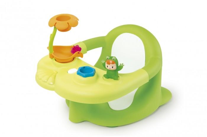 Smoby Стульчик для ваннойСтульчик для ваннойSmoby Стульчик для ванной. Стульчик для ванной – это отличная возможность безопасного и веселого купания для детей от 6 месяцев.   Стульчик крепится к ванной 4-мя присосками, что позволяет зафиксировать стульчик на одном месте. Вокруг стульчика проходит защитное кольцо, которое не позволит малышу выпасть из сидения. Игровая панель отодвигается для удобной посадки и высадки ребенка. Высокое качество пластика и превосходная обработка – это гарантия приятного и безопасного купания.  На игровой панели расположена фигурка лягушенка по имени Вабаб, душ в виде цветочка и ведерко.  С помощью стульчика для купания Cotoons купаться стало весело и безопасно!<br>