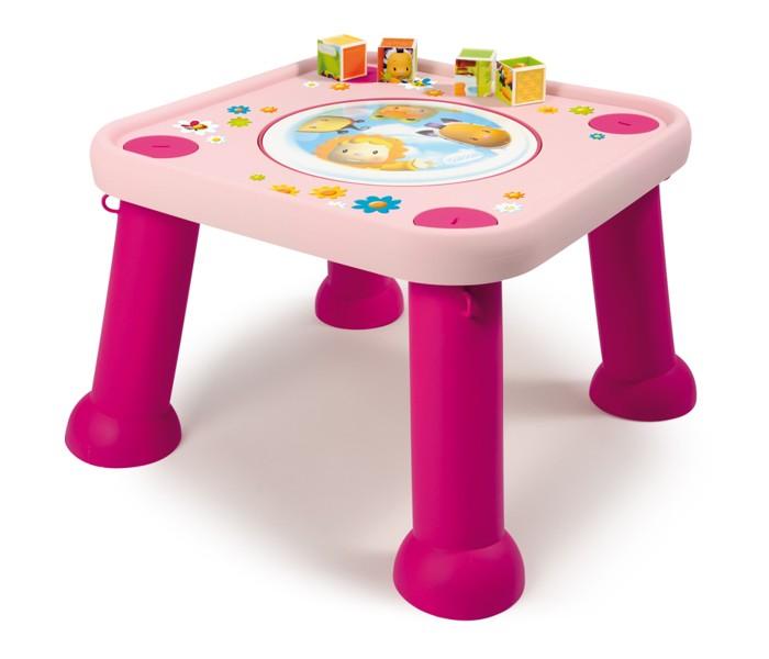 Игровой центр Smoby трансформер Cotoons 211310трансформер Cotoons 211310Стульчик Smoby Трансформер - подойдет как самым маленьким, так детям постарше. Для маленьких предназначено специальное сиденье в центре столика, которое регулируется по высоте и вращается на 360 градусов, благодаря чему малыш легко дотянется до нужной ему игрушки, да и повертеться на стуле он может от души! В комплекте есть два героя коллекции Cotoons - цветочек Тулип в виде зеркальца и пчелка Зум с двумя бусинами, которая может передвигаться по специальной дорожке.  Для деток постарше стульчик-трансформер Smoby легко превращается в стол. Для этого необходимо сидение заменить крышечкой с героями Сotoons.  Особенности: - Легко поддается чистке и стирке. - Все материалы приятны на ощупь и безопасны для ребенка. - Модель соответствует европейским стандартам качества и безопасности. - Материал: пластик. - Размер столика: 45х42х42 см. - Размер упаковки: 60х60х20 см. - Вес: 3,7 кг.<br>