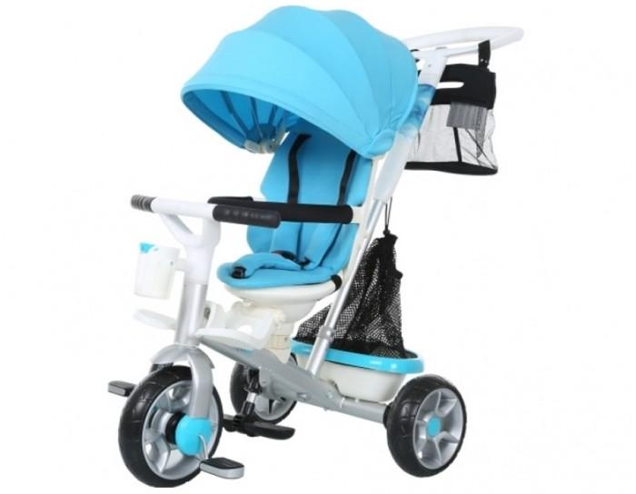 """Велосипед трехколесный Vip Toys Roll PlayRoll PlayАлюминиевый 3-х колесный велосипед на каучуковых колесах для детей от 12 месяцев. Сиденье выглядит как комфортное кресло с боковой защитой в виде мягких бортиков. Сиденье 360 — сиденье можно установить в 2-х положениях: """"лицом к дороге"""" и """"лицом к маме"""".   Родительская ручка телескопик — регулируется по высоте путем нажатия на кнопку. Удобная ручка установлена под идеальным углом и подходит под любой рост взрослого. Созданная по инновационным технологиям ручка очень прочная. Складной капюшон защитит от дождя и солнца.   Съемный барьер безопасности очень тверд и надежен, но сверху покрыт мягким материалом. Барьер безопасности легко и быстро снимается при необходимости. 3-х точечные ремни безопасности защитят от выпадения и удержат непоседу в этом мягком и уютном кресле. На заднем колесе установлен ножной тормоз, которым можно воспользоваться при остановке. Это очень удобно. Снимается складной капюшон очень легко, одним движением руки. Система фиксации прочная и надежная.   Функция """"свободное колесо"""". Небольшим усилием Вы можете повернуть диск. Таким образом, Вы фиксируете педали и малыш может кататься на велосипеде, а можно дать им свободный ход и крутить педали взад- вперед, когда велосипедом управляет взрослый. Вам понравятся уникальные подножки-лепестки, которые крепятся на раму велосипеда и очень эргономично расположены по отношению к телу ребенка. Ваш малыш оценит это когда ножки малыша устанут и он захочет положить их на подножки. Но когда малыш подрастет, то с легкостью сможет пользоваться другими складными подножками под сиденьем велосипеда.   Очень вместительная багажная корзинка ткань+сетка как-будто создана для шоппинга. Она очень легко снимается и ее можно переносить. Впереди есть подстаканник для бутылочки.  Ткань на сиденье и капюшоне непромокаемая, которая позволяет легко и просто ухаживать за велосипедом, протирая ткань после дождя. Мягкая накладка из ткани на руль. Максимальная нагрузка 30 кг. Рекомен"""