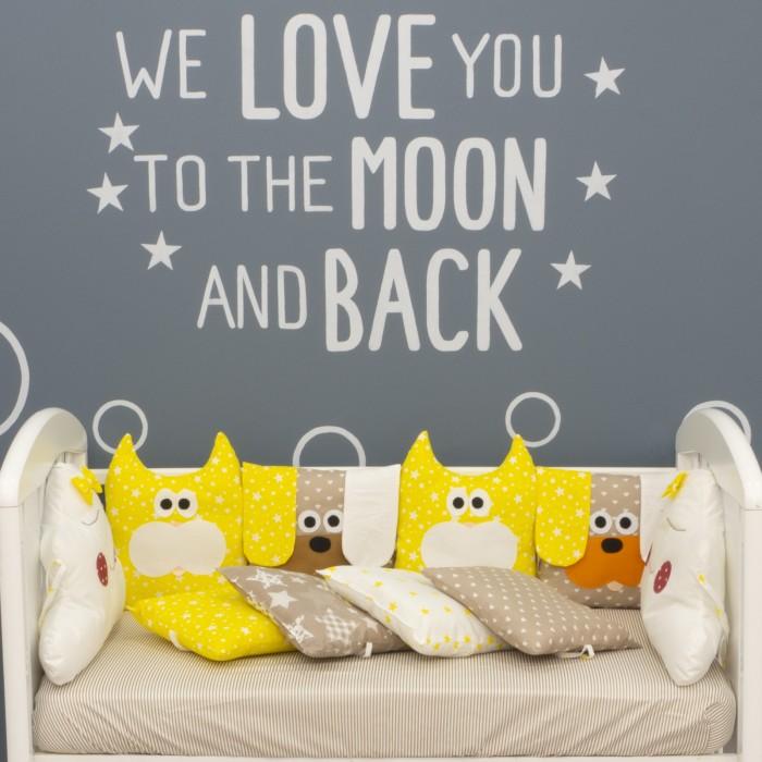 бортики в кроватку снолики совята Бортики в кроватку Снолики Пес и Кот