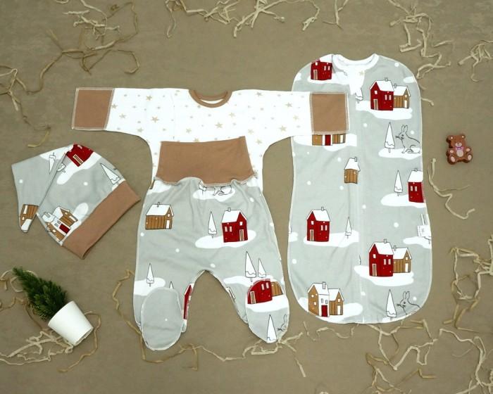 Купить Комплекты на выписку, Комплект на выписку Снолики Снежная Деревня (4 предмета)
