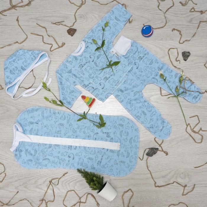 Купить Комплекты на выписку, Комплект на выписку Снолики для новорожденного (4 предмета)