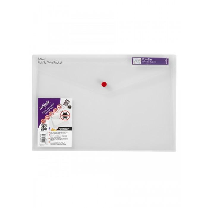 Картинка для Канцелярия Snopake Папка на кнопке А4 36x25 cм