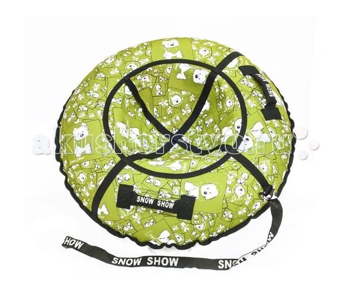 Зимние товары , Тюбинги SnowShow Standart Собачки/Зеленый арт: 411734 -  Тюбинги