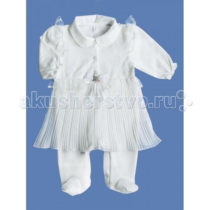 Детская одежда , Комбинезоны и полукомбинезоны Soni Kids Комбинезон для девочки с юбочкой плиссе З7102021 арт: 485886 -  Комбинезоны и полукомбинезоны