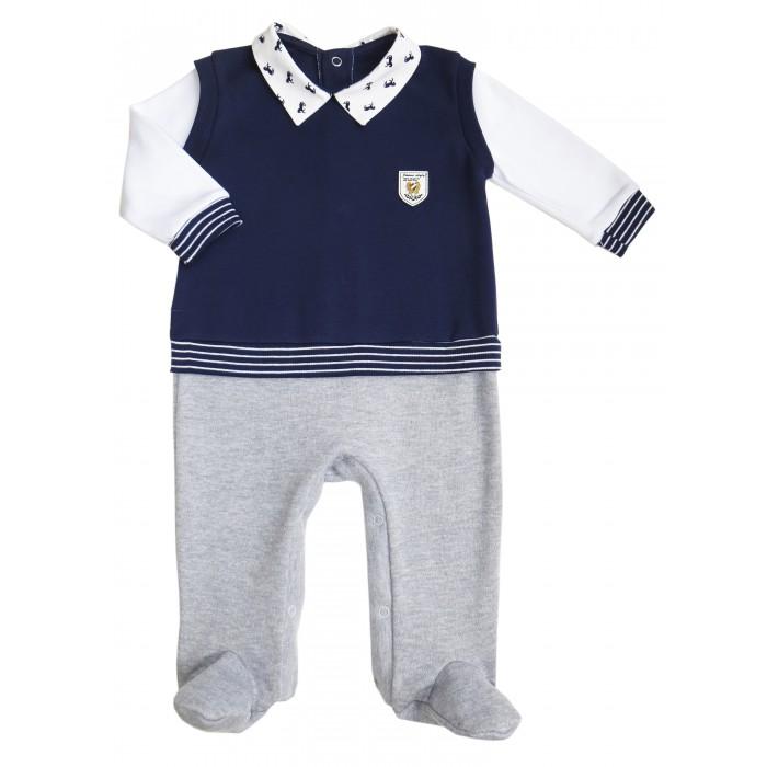 Детская одежда , Комбинезоны и полукомбинезоны Soni Kids Комбинезон с эффектом жилета для мальчика Polo club арт: 32146 -  Комбинезоны и полукомбинезоны