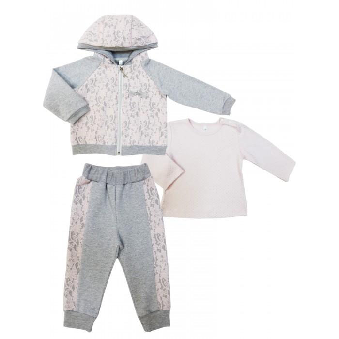 Комплекты детской одежды Soni Kids Комплект для девочки (джемпер+толстовка с капюшоном+брюки) Парижские каникулы джемпер mango kids джемпер