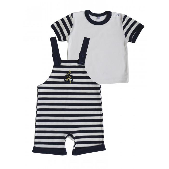 Детская одежда , Комплекты детской одежды Soni Kids Комплект (футболка и полукомбинезон) Морская коллекция арт: 539576 -  Комплекты детской одежды