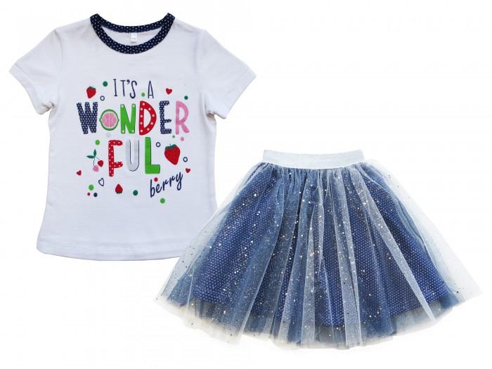 Soni Kids Комплект футболка и юбка Клубничка фото