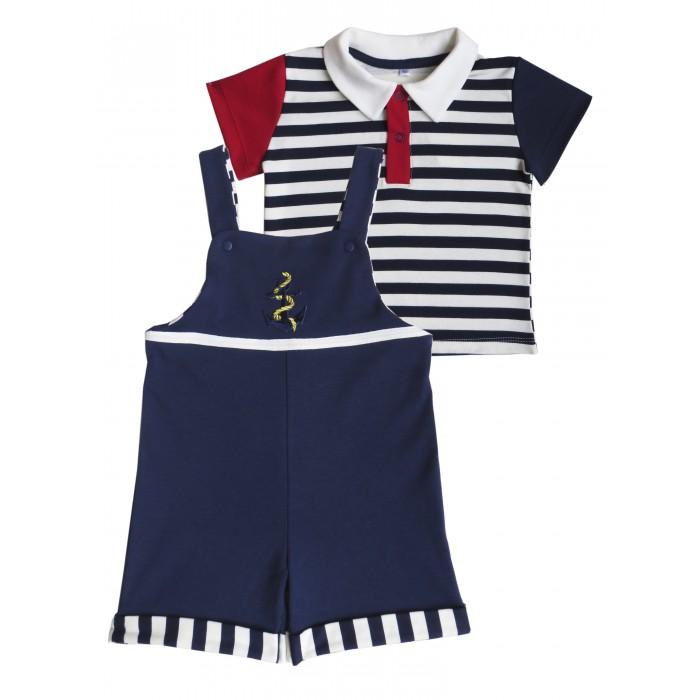 Детская одежда , Комплекты детской одежды Soni Kids Комплект (футболка-поло и полукомбинезон) Морская коллекция арт: 539611 -  Комплекты детской одежды
