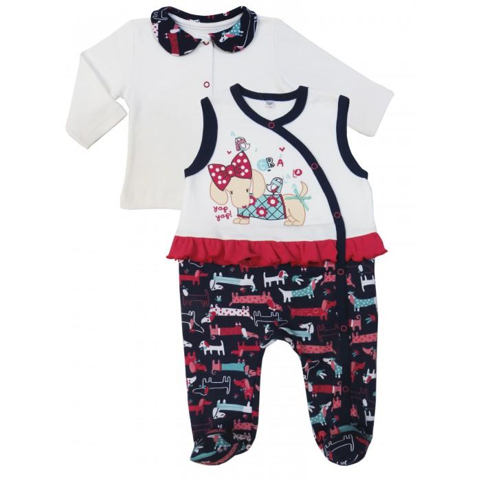 Комплекты детской одежды Soni Kids Комплект (кофточка и полукомбинезон) Прогулка с Мими комплекты детской одежды soni kids комплект майка и шорты веселый зоопарк