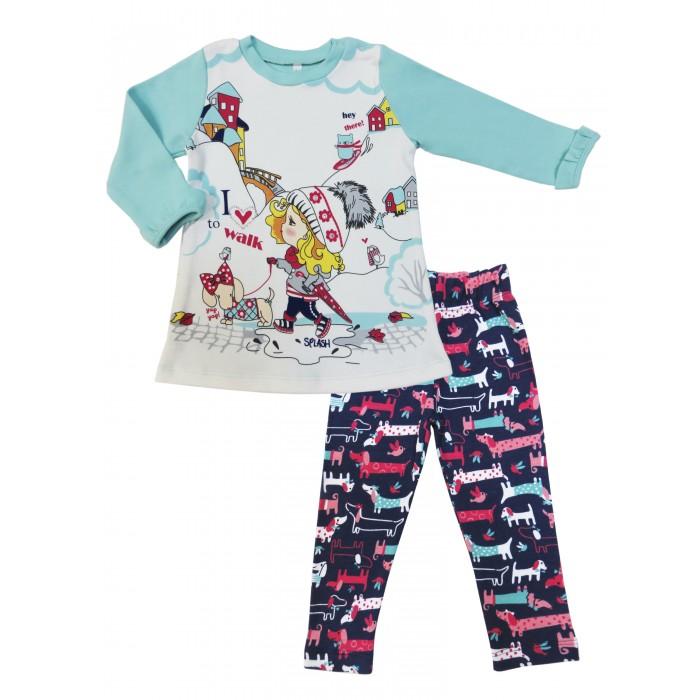 Комплекты детской одежды Soni Kids Комплект (туника и брюки эластичные) Прогулка с Мими комплекты детской одежды soni kids комплект кофточка и брюки прогулка с мими з7121031