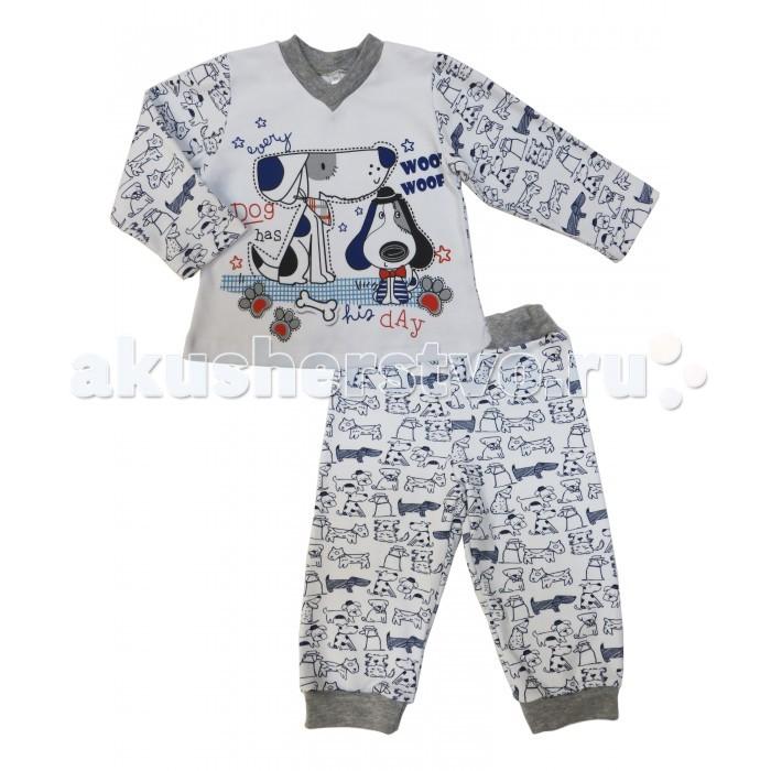Детская одежда , Пижамы и ночные сорочки Soni Kids Пижама длинный рукав (кофточка и штанишки) Dog Party арт: 354480 -  Пижамы и ночные сорочки
