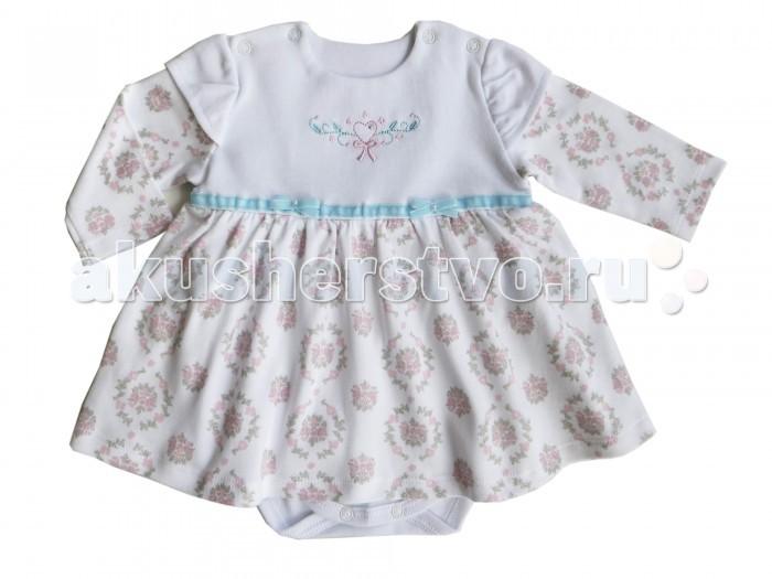 Детская одежда , Боди и песочники Soni Kids Боди-платье Романтика арт: 222376 -  Боди и песочники