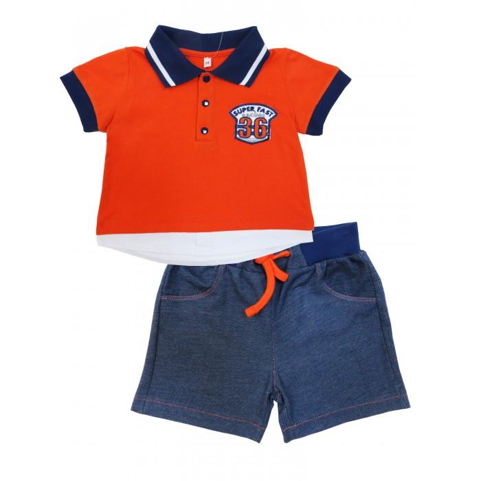 Комплекты детской одежды Soni Kids Комплект (футболка-поло и шорты) Гонщик комплекты детской одежды soni kids комплект майка и шорты веселый зоопарк