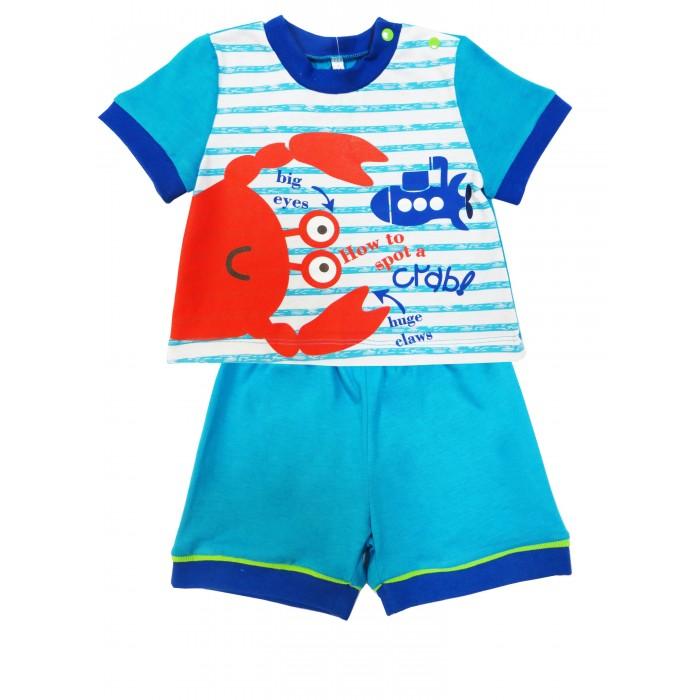 Комплекты детской одежды Soni Kids Комплект (футболка и шорты) Подводный мир комплекты детской одежды soni kids комплект майка и шорты веселый зоопарк