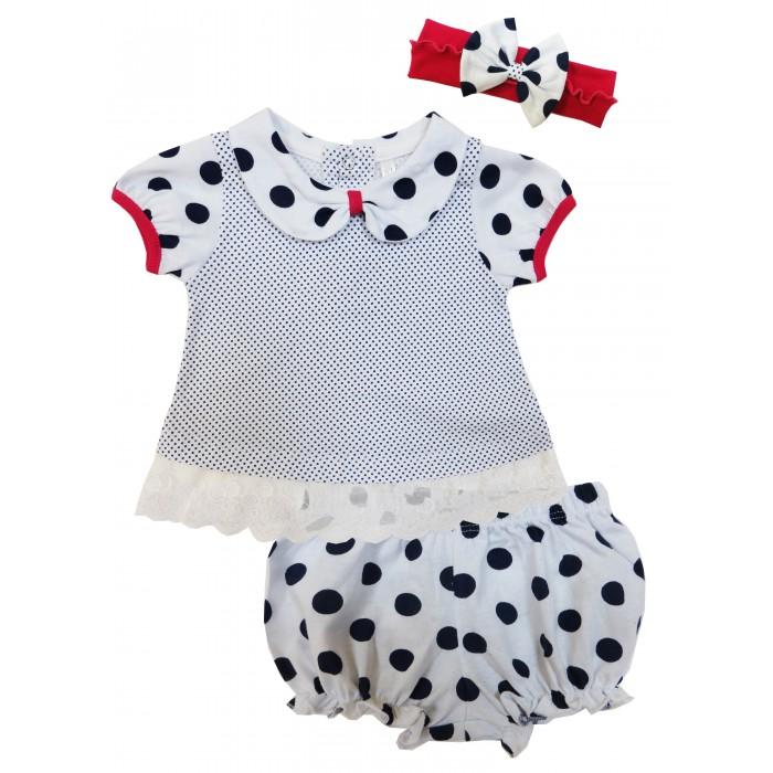 Комплекты детской одежды Soni Kids Комплект (футболка, шорты и повязка) Каникулы Мари комплекты детской одежды soni kids комплект майка и шорты веселый зоопарк