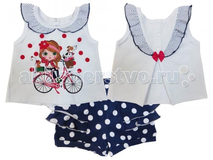 Комплекты детской одежды Soni Kids Комплект (майка и шорты) Каникулы Мари комплекты детской одежды soni kids комплект майка и шорты веселый зоопарк