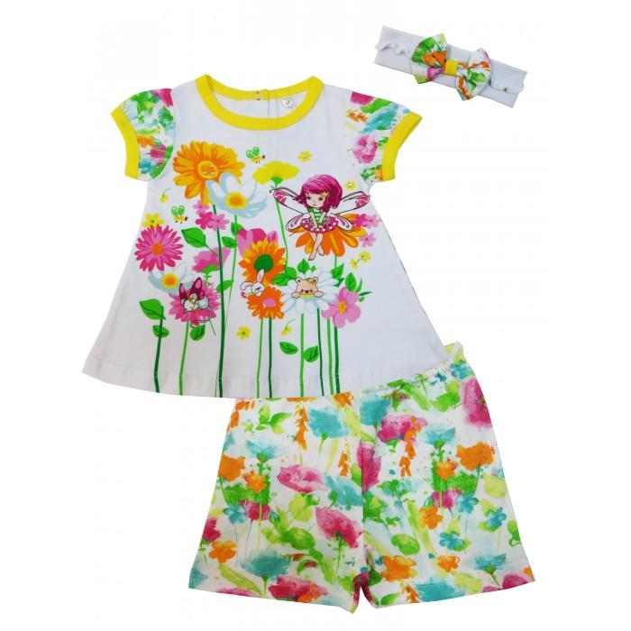Комплекты детской одежды Soni Kids Комплект (туника, шорты и повязка) Феечка комплекты детской одежды soni kids комплект майка и шорты веселый зоопарк