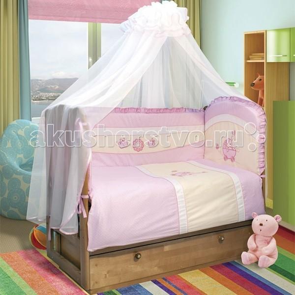 Комплект в кроватку Soni Kids Лапочка в колясочке №1 (6 предметов)