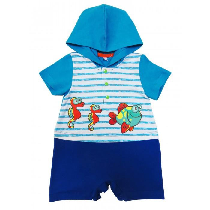 Боди и песочники Soni Kids Песочник с капюшоном Подводный мир боди и песочники idea kids песочник пятнышки