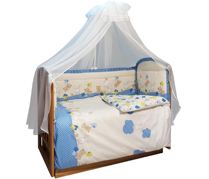 Бортик в кроватку Soni Kids В уютных облачках