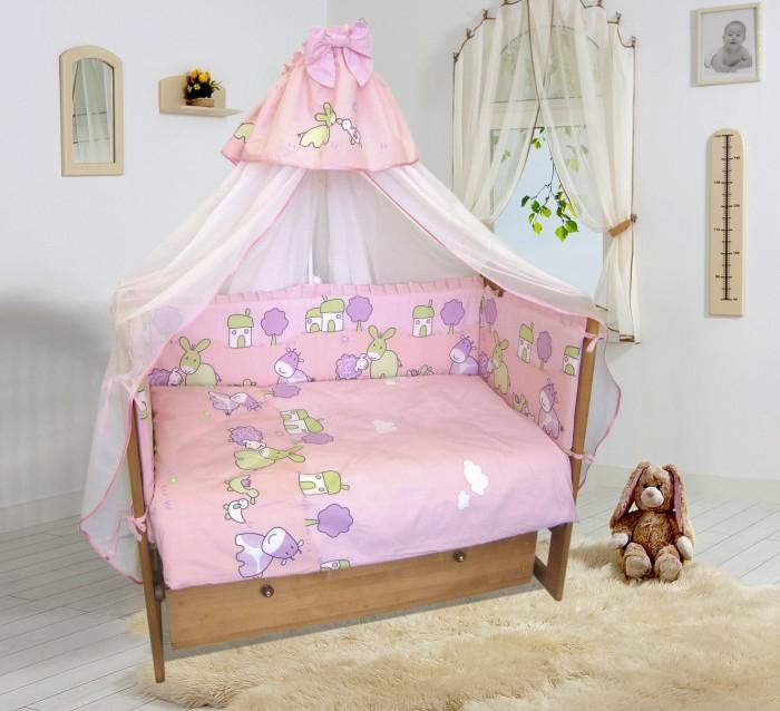 Комплект в кроватку Soni Kids Веселая ферма (6 предметов)Веселая ферма (6 предметов)Красивый комплект в кроватку из 6 предметов Soni Kids Веселая ферма станет отличным подарком для родителей и обеспечит Вашему малышу крепкий и здоровый сон.   Ткань: импортный гладко окрашенный сатин, импортный набивной сатин. Состав: 100% высококачественный хлопок.  Наполнитель: антиаллергенный наполнитель в одеяло, подушку и защитые борта - холлофайбер.  Размеры: Пододеяльник- 140х110 см Простынка на резинке - 150х90 см Наволочка - 60х40 см Одеяло - 140х110 см Подушка - 60х40 см Бортик - 360х44 см (съемные чехлы)<br>