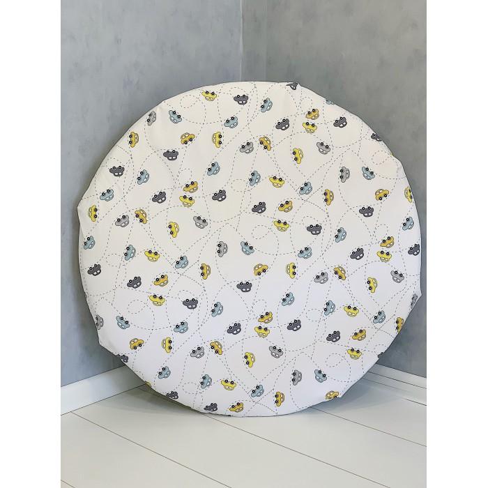 Купить Простыни, Соника Простынь на резинке на круглый матрас Машинки-пунктир 75x75 см