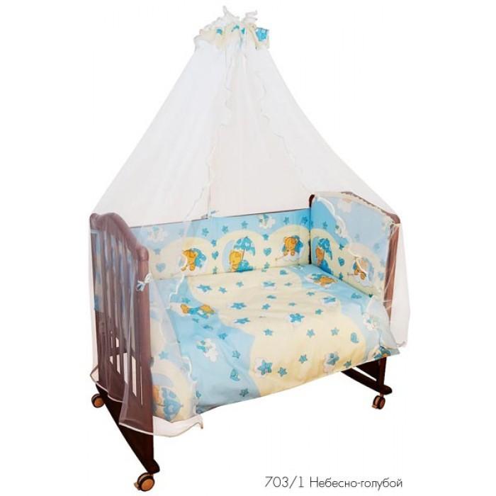 Комплект в кроватку Сонный гномик Мишкин сон (7 предметов)