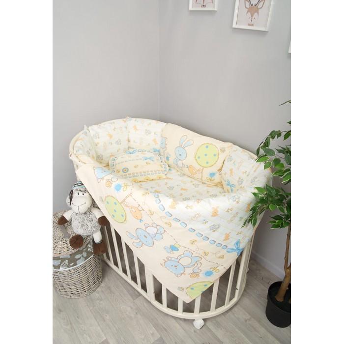 сонный гномик подушка анатомическая для младенцев жираф и черепаха 27 х 25 см Комплекты в кроватку Сонный гномик Акварель (4 предмета) 406-10
