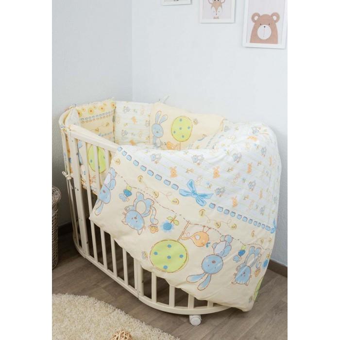 Картинка для Комплект в кроватку Сонный гномик Акварель круглую (6 предметов) 606-10