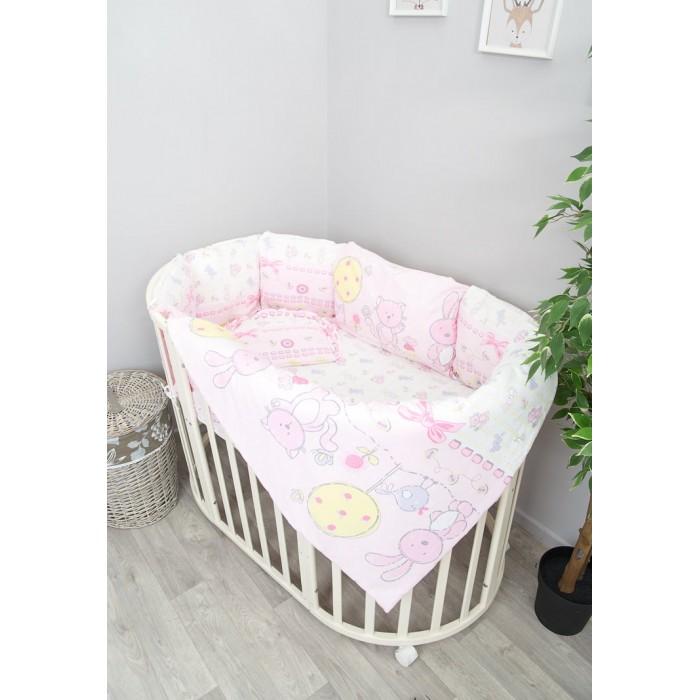 Купить Комплекты в кроватку, Комплект в кроватку Сонный гномик Акварель круглую (6 предметов) 606-10