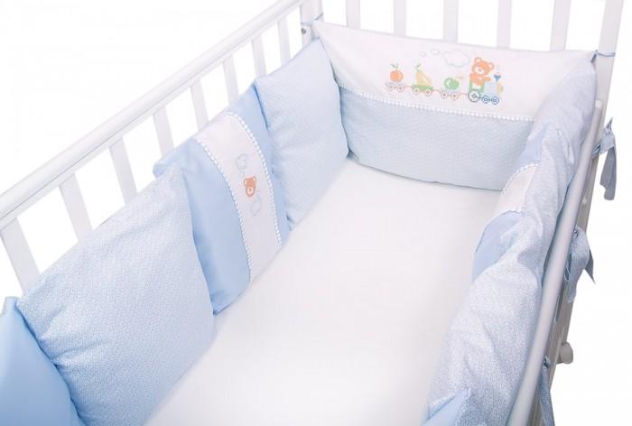 Бортики в кроватку Сонный гномик из подушек Паровозик борт в кроватку сонный гномик считалочка бежевый бсс 0358105 4